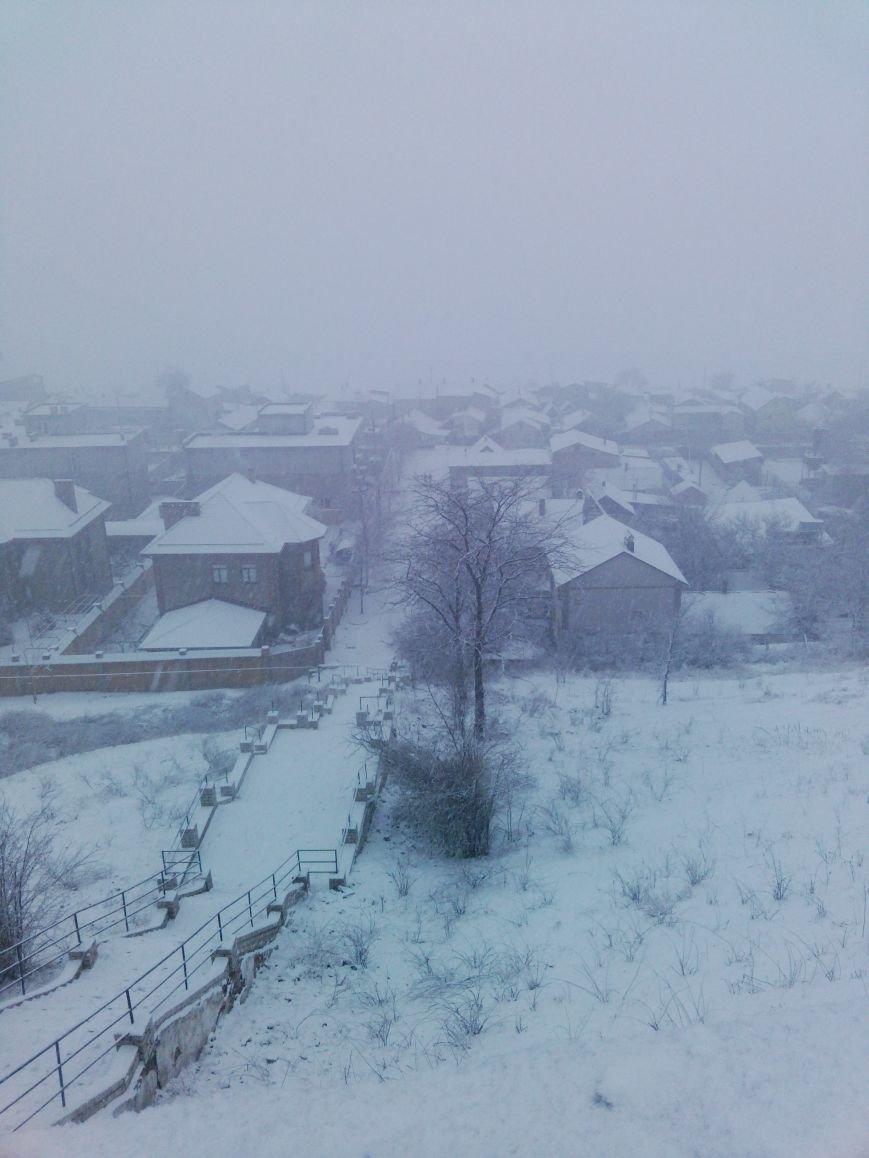 Снегопад в Бердянске (Фоторепортаж), фото-8