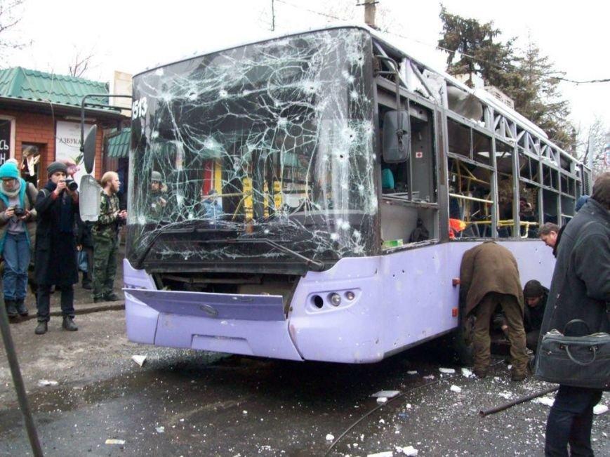 Год спустя: в Донецке почтят память погибших в расстрелянном троллейбусе на
