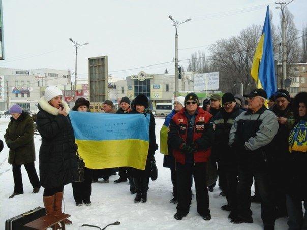 Голодающих в Верховной Раде криворожан дома поддержали земляки (ФОТО), фото-1