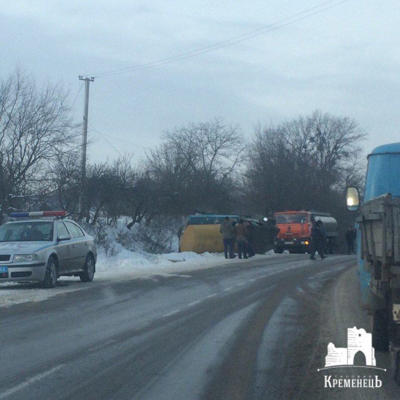 На Тернопільщині молоковоз перекинувся у кювет (фото) (фото) - фото 1