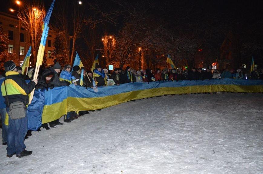 Флешмоб ко Дню Соборности Украины на центральной площади Краматорска (ФОТО), фото-2