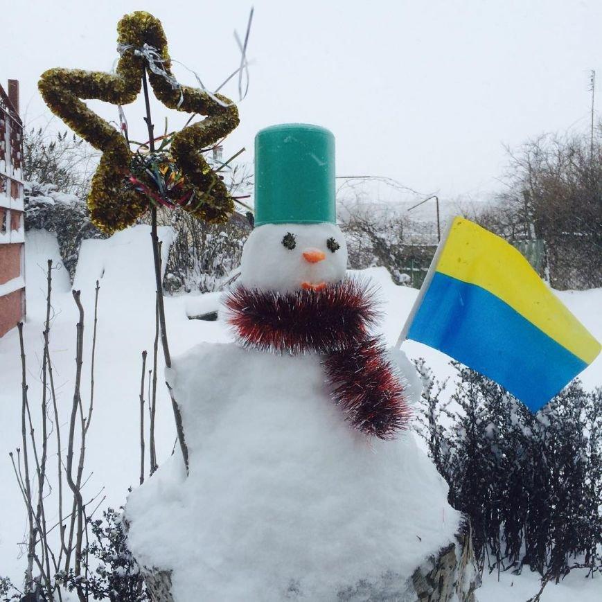 6d7f8235c8838efc0836fc9664c7483b Одесситы лепят забавных снеговиков