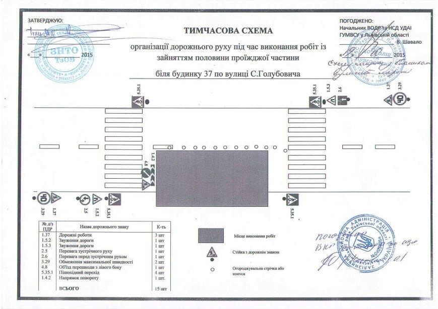 У Львові обмежили рух транспорту на вулиці Голубовича: схема об'їзду (фото) - фото 1