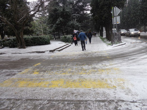 Такого снегопада... В Ялте как всегда не ждали (фото) - фото 7