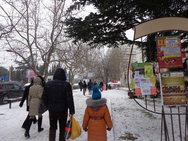 Такого снегопада... В Ялте как всегда не ждали (фото) - фото 2