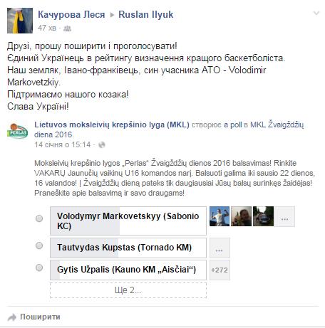 Син учасника АТО потрапив до рейтингу найкращих баскетболістів Литовської студентської ліги (фото) - фото 1