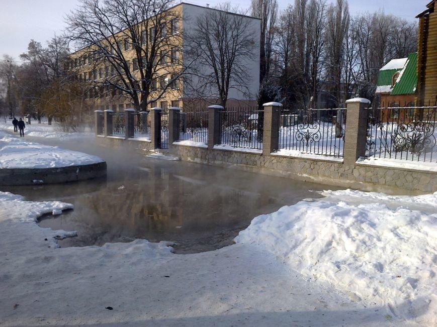 Автобусную остановку в Полтаве снова затопило фекалиями (фото) - фото 1