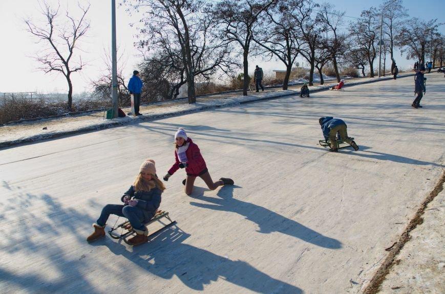 Зима пришла в Бердянск (ФОТОРЕПОРТАЖ), фото-2