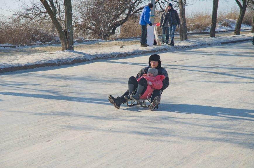 Зима пришла в Бердянск (ФОТОРЕПОРТАЖ), фото-9