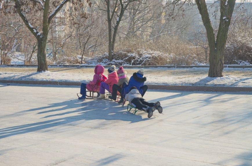 Зима пришла в Бердянск (ФОТОРЕПОРТАЖ), фото-7