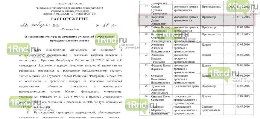 Новая волна сокращений накрыла ЮФУ, не пощадив Данила Корецкого, фото-2