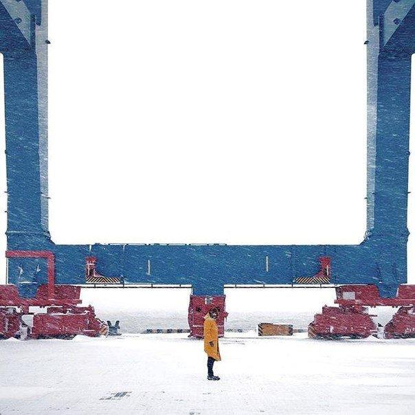 Занесенный снегом одесский порт облюбовали фотохудожники (ФОТО) (фото) - фото 1