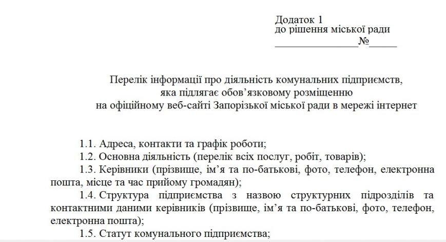Секретная информация о запорожских КП будет публиковаться на сайте мэрии (фото) - фото 1
