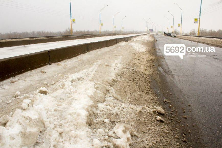 На левобережном мосту Днепродзержинска произошла очередная авария (фото) - фото 4