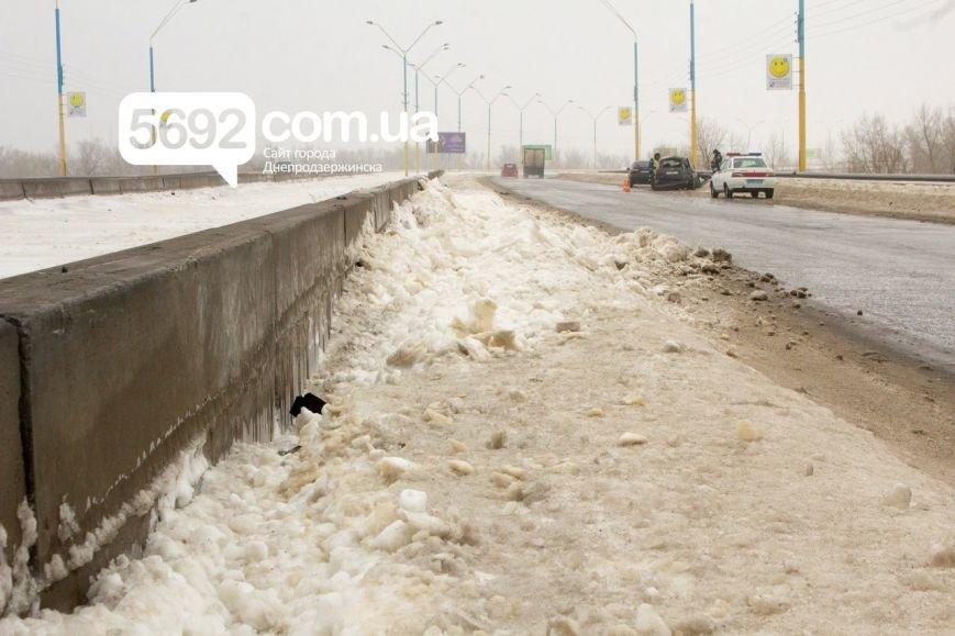 На левобережном мосту Днепродзержинска произошла очередная авария (фото) - фото 5