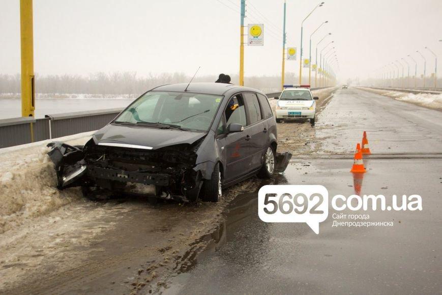 На левобережном мосту Днепродзержинска произошла очередная авария (фото) - фото 1