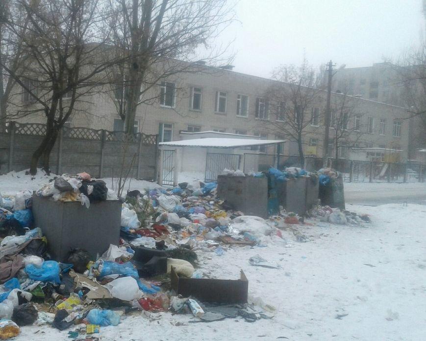 В Днепропетровске на территории начальной школы поселилась мусорная свалка (ФОТО) (фото) - фото 1