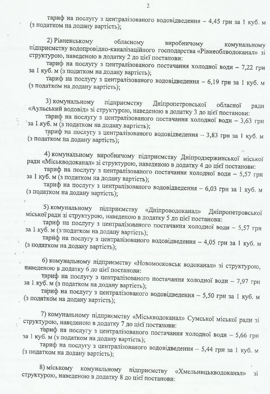 В Днепродзержинске новые тарифы на воду действуют уже с 29 января (фото) - фото 2
