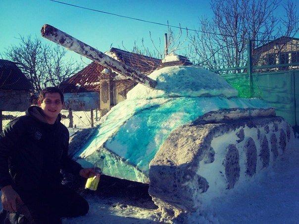 Николаевец построил танк из снега (ФОТОФАКТ) (фото) - фото 3