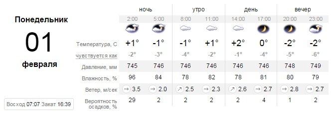 Какая погода будет в Днепропетровске в понедельник 1 февраля (фото) - фото 1