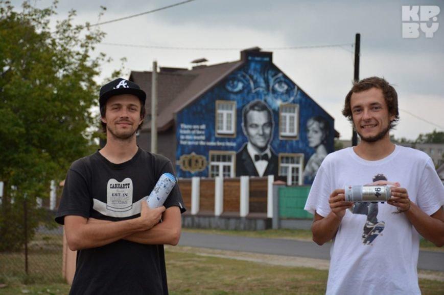 Марк Шагал, Джон Леннон и Иван Грозный: двое витеблян рисуют портреты на зданиях города (фото) - фото 2