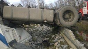 На Прикарпаттті водія вантажівки затисло у кабіні (ФОТО) (фото) - фото 1
