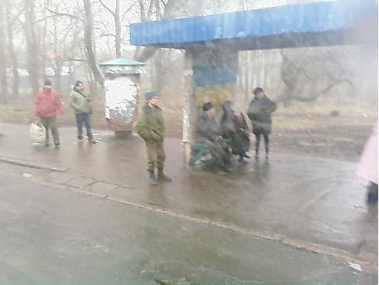 Донецк - город контрастов: боевик
