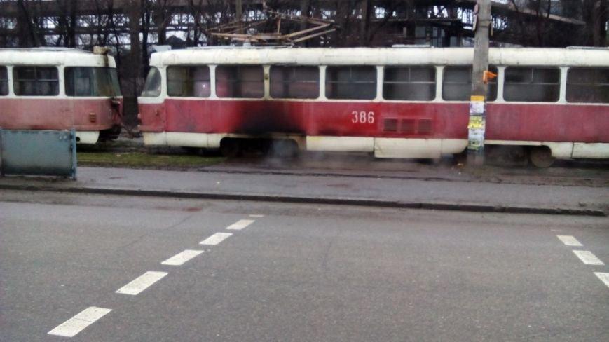 В Запорожье горел трамвай, - ФОТО (фото) - фото 1