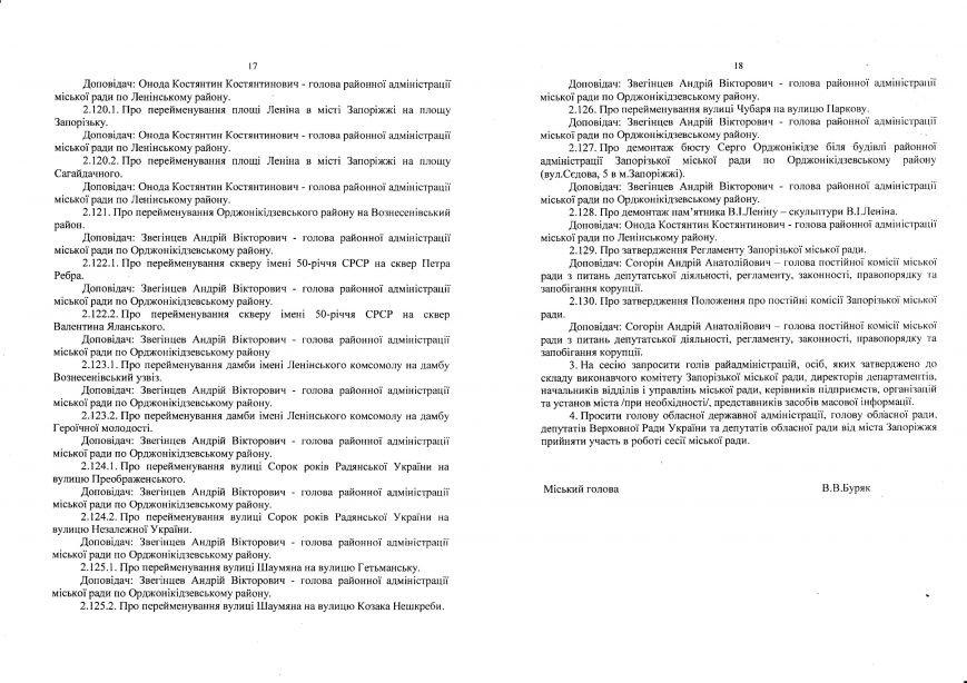Декоммунизационная сессия Запорожского горсовета состоится 19 февраля (фото) - фото 9