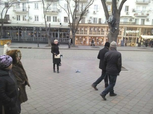 Одесситка, которая выгуливает утюг, теперь собирает деньги на корм питомцу (ФОТО) (фото) - фото 1