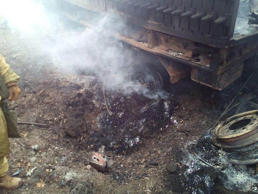 В зоне АТО на мине подорвался грузовик батальона «Полтава», фото-4
