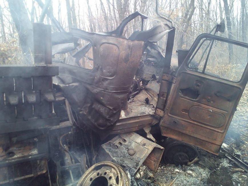 В зоне АТО на мине подорвался грузовик батальона «Полтава», фото-1
