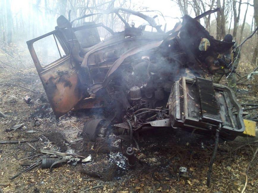 В зоне АТО на мине подорвался грузовик батальона «Полтава», фото-2