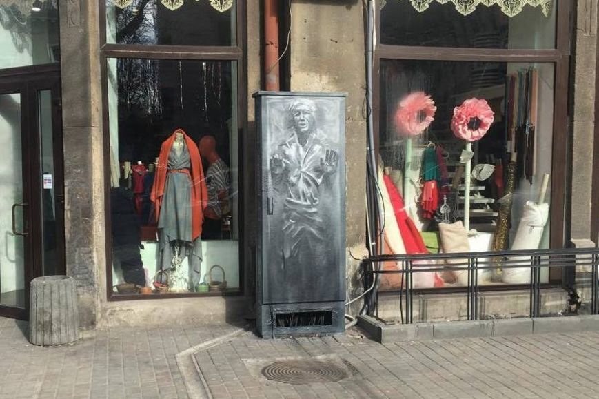 В центре Одессы на распределительном шкафе проявился силуэт Хана Соло (ФОТО) (фото) - фото 2