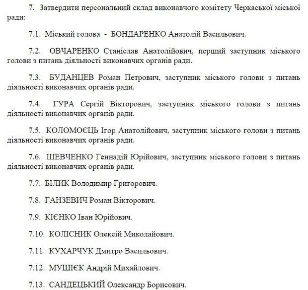 Бондаренко знову перекроїв виконком: поки що – без секретаря (фото) - фото 1