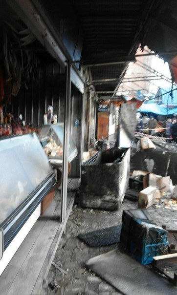 Макеевчанам о подробностях ночного пожара на Крытом рынке в Донецке (добавлено фото) (фото) - фото 3