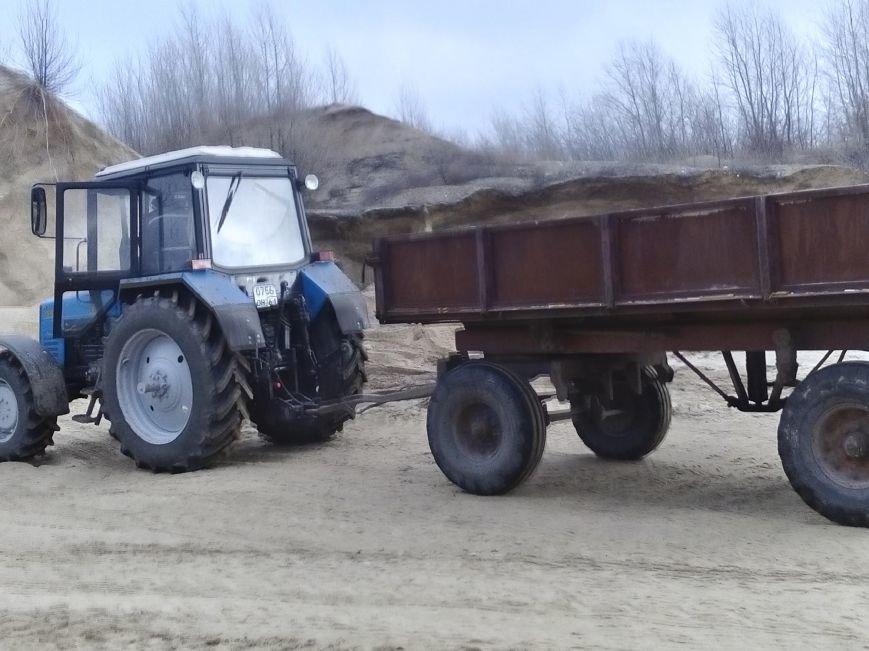 песок трактор