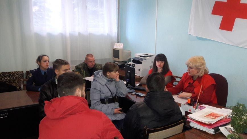 Добропольская «Лига будущих полицейских» побывала в гостях у Красного Креста, фото-6