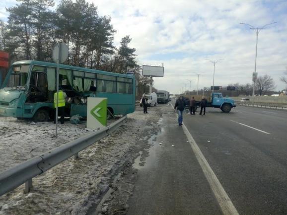 На Жулянском мосту столкнулись автобус и 3 машины, есть пострадавшие (ФОТО), фото-2