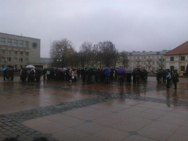 В Гродно на площади Ленина собираются предприниматели (онлайн, обновляется) (фото) - фото 1