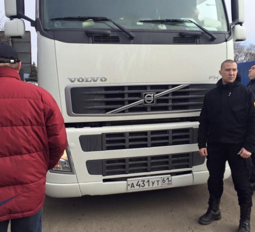 На блокаде! Задержанную под Одессой российскую фуру развернули (ФОТО), фото-1