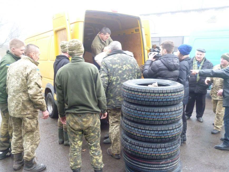 66-ому военно-мобильному госпиталю в Красноармейске луцкие волонтеры помогли автошинами, продуктами и медикаментами (фото) - фото 4