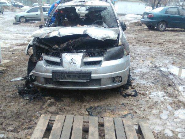 На Алексеевке неизвестные спалили иномарку (ФОТО) (фото) - фото 1