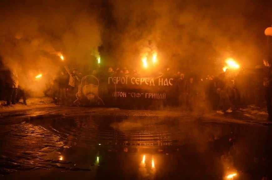 В Полтаве прошел марш памяти погибшего в АТО бойца «Азова» (фото) - фото 1