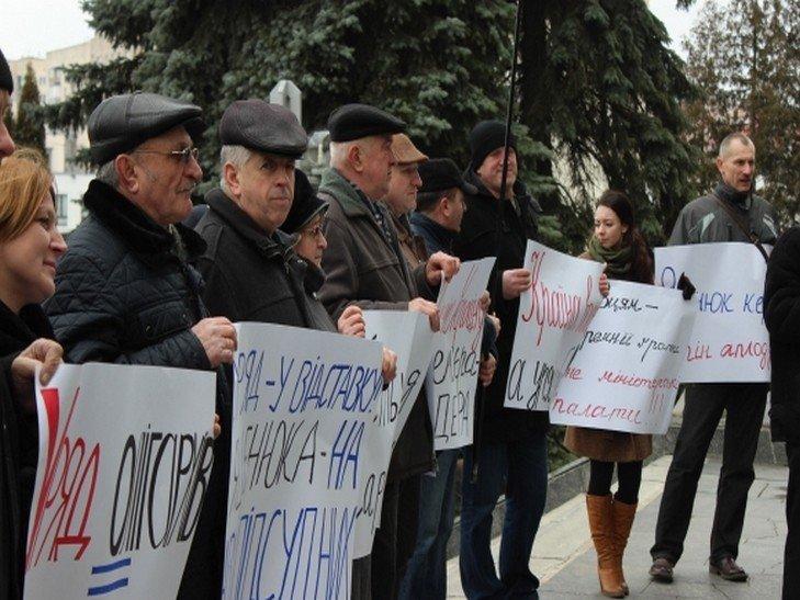 Активісти під Радою висловлюють недовіру уряду, у Хмельницькому – під ОДА (Фото), фото-1