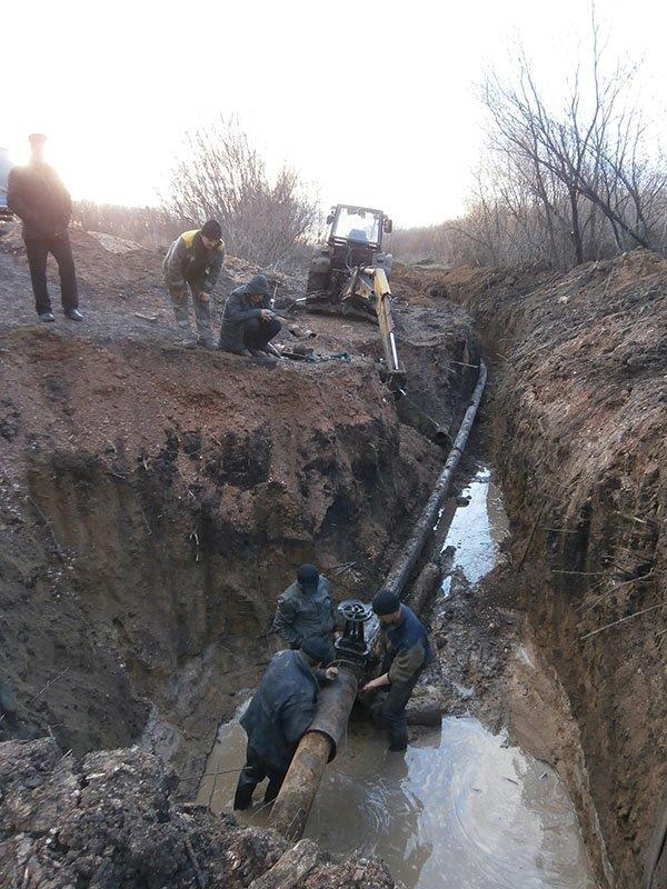ремонт водогона в г.Водяное_Доброполье