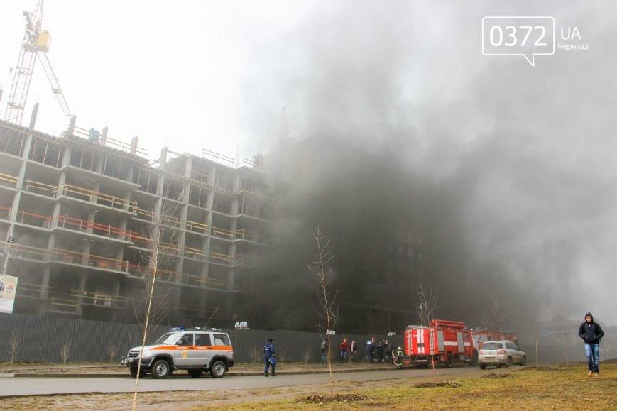"""У Чернівцях горить недобудований житловий комплекс """"Водограй""""(ФОТО), фото-3"""