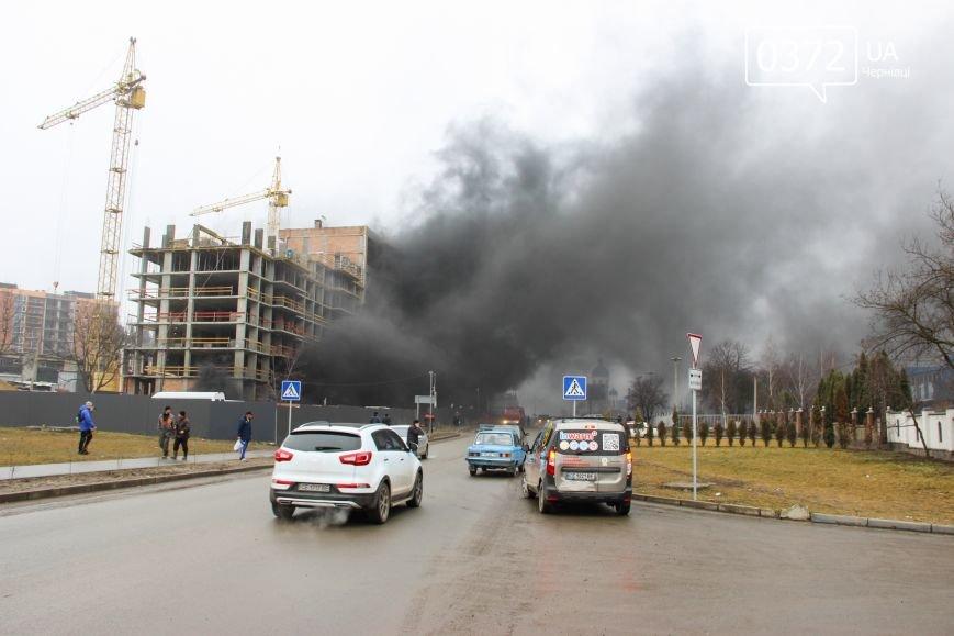 """У Чернівцях горить недобудований житловий комплекс """"Водограй""""(ФОТО), фото-1"""