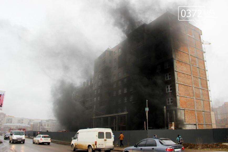 """У Чернівцях горить недобудований житловий комплекс """"Водограй""""(ФОТО), фото-5"""