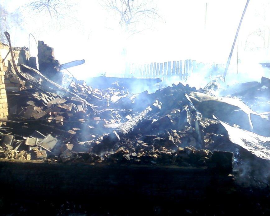 Житель Репкинского района  по неосторожности сжег собственный дом (фото) - фото 1